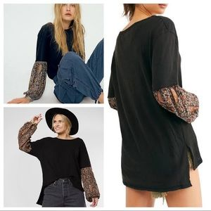 We the Free Free People Jade Long Sleeve Top Black